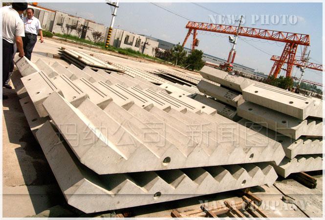 预制装配式钢筋混凝土楼梯_pc构件生产线_玛纳公司图片